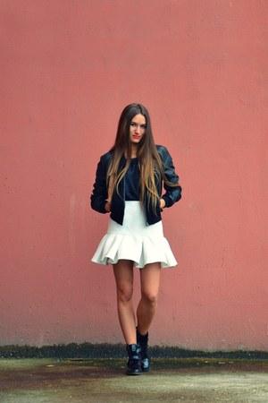 white asos skirt