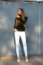 light blue H&M jeans