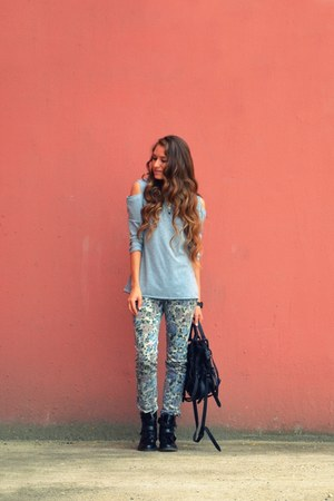 heather gray pull&bear jeans
