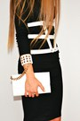 Black-asos-dress-white-aldo-bag-white-asos-belt-white-asos-sandals