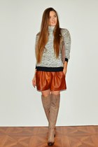 brown Zara shorts