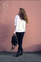 black asos boots - black Diesel jeans - white no brand blazer