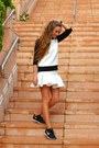 White-zara-sweatshirt-white-asos-skirt-black-nike-sneakers