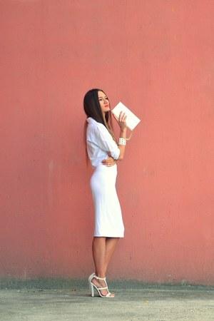 white asos heels