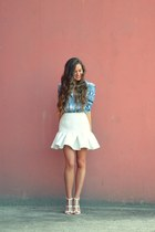 white asos skirt