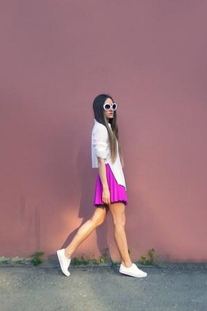 white asoscom sneakers - magenta H&M skirt