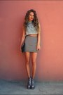 Silver-jeffrey-campbell-boots-periwinkle-cheap-monday-top-white-h-m-skirt