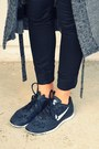 Gray-cheap-monday-cardigan-black-nike-sneakers