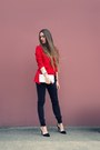 red nowIStyle t-shirt - white Aldo bag