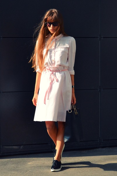 light pink Zara shirt
