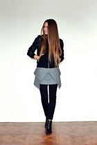 black Zara boots - black lindex jacket