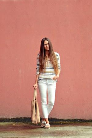 black Oasis jeans - camel Zara bag