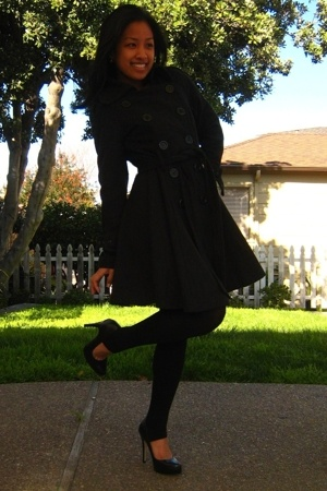 coat - tights - shoes