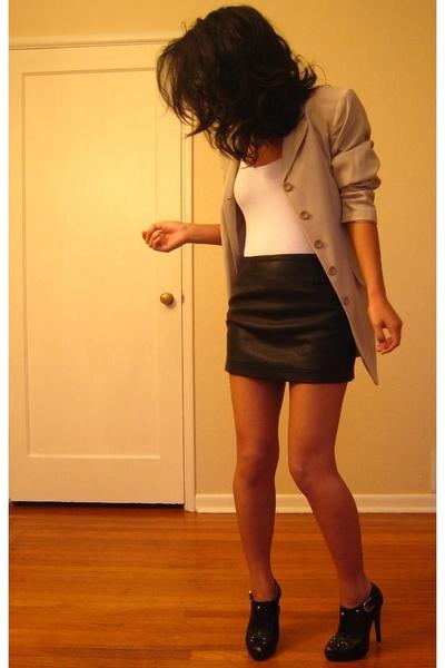 blazer - shirt - skirt - shoes