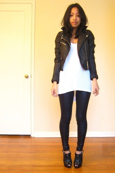 jacket - shirt - leggings - boots