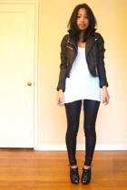 jacket - shirt - leggings - boots