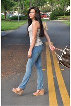 Current Elliot jeans - Louis Vuitton bag - Romeo & Juliette Couture top - asos w