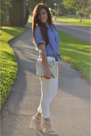 Chloe bag - Paper Denim & Co jeans - Alexander Wang sandals - My fiances top