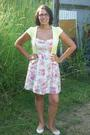 Pink-myer-dress-white-forever-new-shoes-yellow-valley-girl-cardigan-white-