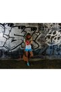Carrot-orange-jollychic-bag-aquamarine-mishka-shorts