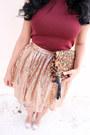 Brown-leopard-print-sole-society-bag-light-pink-sequins-skirt