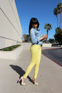 Light-blue-denim-love-culture-top-light-yellow-pastels-zara-pants