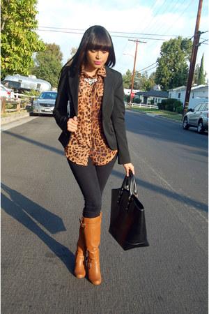 black Express blazer - brown Forever 21 blouse