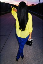 yellow Forever 21 blouse