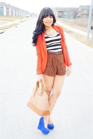 blue Target wedges - carrot orange Forever 21 blazer