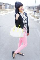 black Express blazer - bubble gum Forever 21 jeans