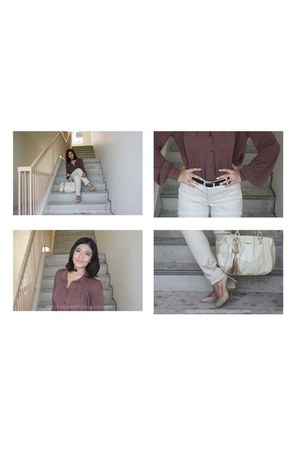 Charles & Keith bag - Topshop blouse - g2000 pants - Charles & Keith heels