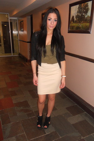 Forever 21 blazer - Urban Outfitters top - American Apparel skirt - Jeffrey Camp