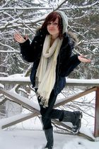 silver Goodwill hat - silver hollister dress - black target leggings - black abe