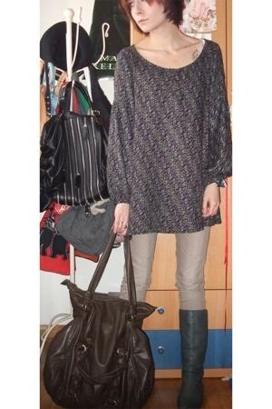 Mango blouse - Stradivarius pants - Zara boots - Zara accessories - Zara accesso