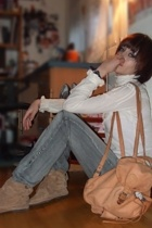 brown backpack unknown accessories - brown moccasin fringe Mustang boots