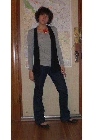C&C vest - banana republic pants - Target shirt - from Tender Loving Empire neck