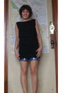 Black-american-apparel-dress-handmade-shorts