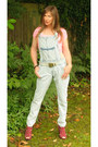 Light-blue-river-island-jeans-bubble-gum-cotton-crop-new-look-top