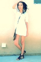 white Forever21 dress - black chortlotte russe shoes