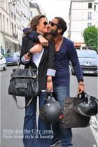 70s jeans - black blazer - black leather bag - white top - gold watch