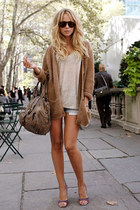light brown sweater