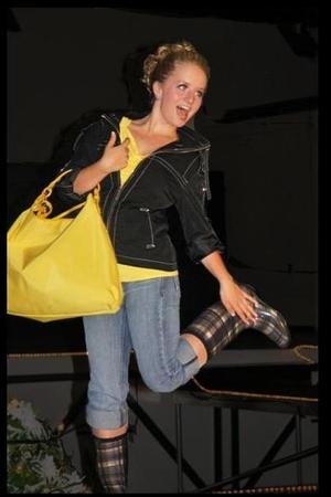boots - coat - jeans - purse