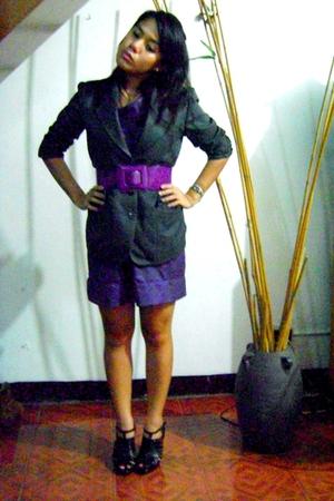 suit - mint dress - Zara shoes
