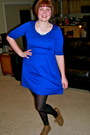 Blue-stretchy-fransescas-collection-dress
