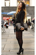 black Mango blazer - black Rebecca Minkoff bag - black Steve Madden heels