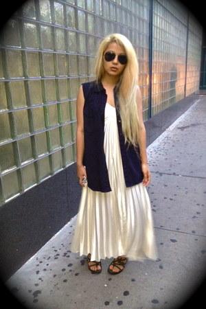 random brand vest - vintage dress - Alexander Wang heels