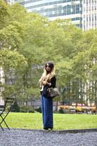 black Mango blazer - black gold stud Rebecca Minkoff bag