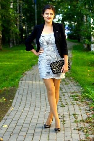 Topshop dress - Concept club jacket - Murval purse