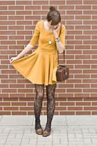 mustard romwe dress