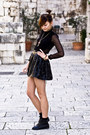 Black-romwe-shoes-leather-studded-romwe-skirt